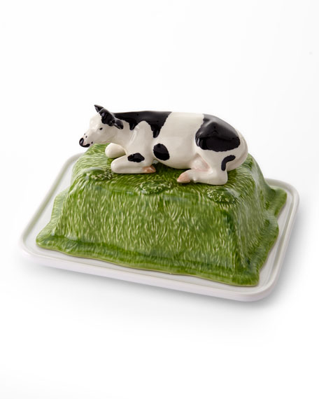 Bordallo Pinheiro Meadow Butter Dish