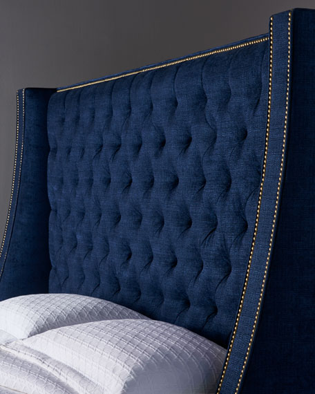 Massoud Kniles Tufted King Bed