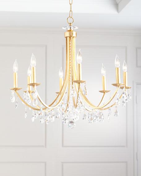 Crystorama Hampton 8-Light Antiqued Gold Chandelier