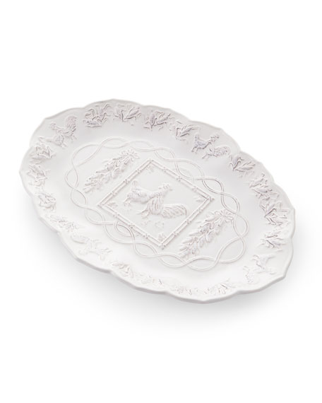 Rooster Rectangular Tray