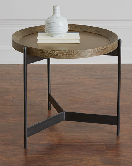 Image 1 of 3: Pomona Tray Side Table