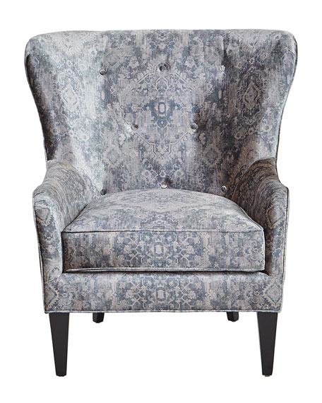 Elvis Button Tufted Wing Chair