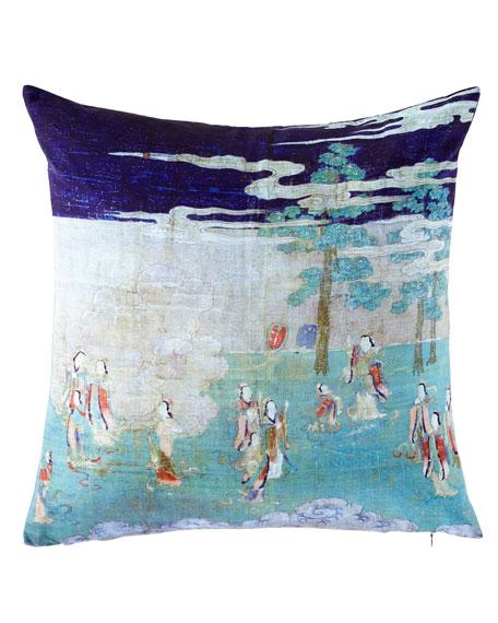 Enlightening Pine Forest Pillow