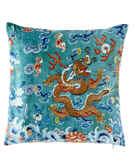Poetic Pillow Dragon Green West Pillow