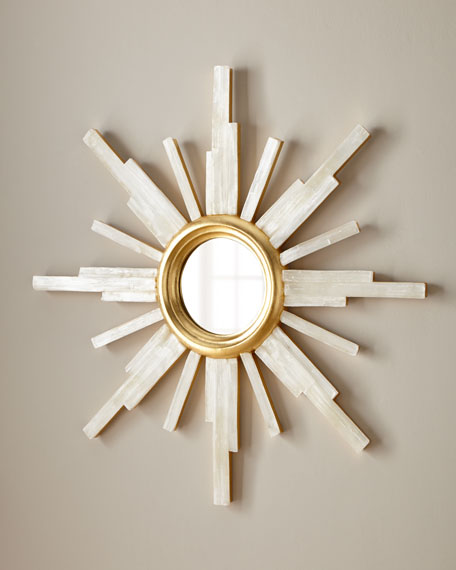 John-Richard Collection Selenite Star Mirror