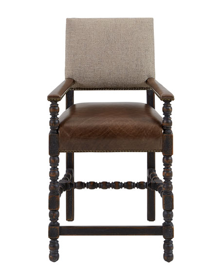 Hooker Furniture Casella Leather Counter Stool