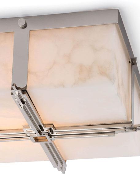Regina Andrew Design Gotham Polished Nickel Flush Mount Ceiling Light