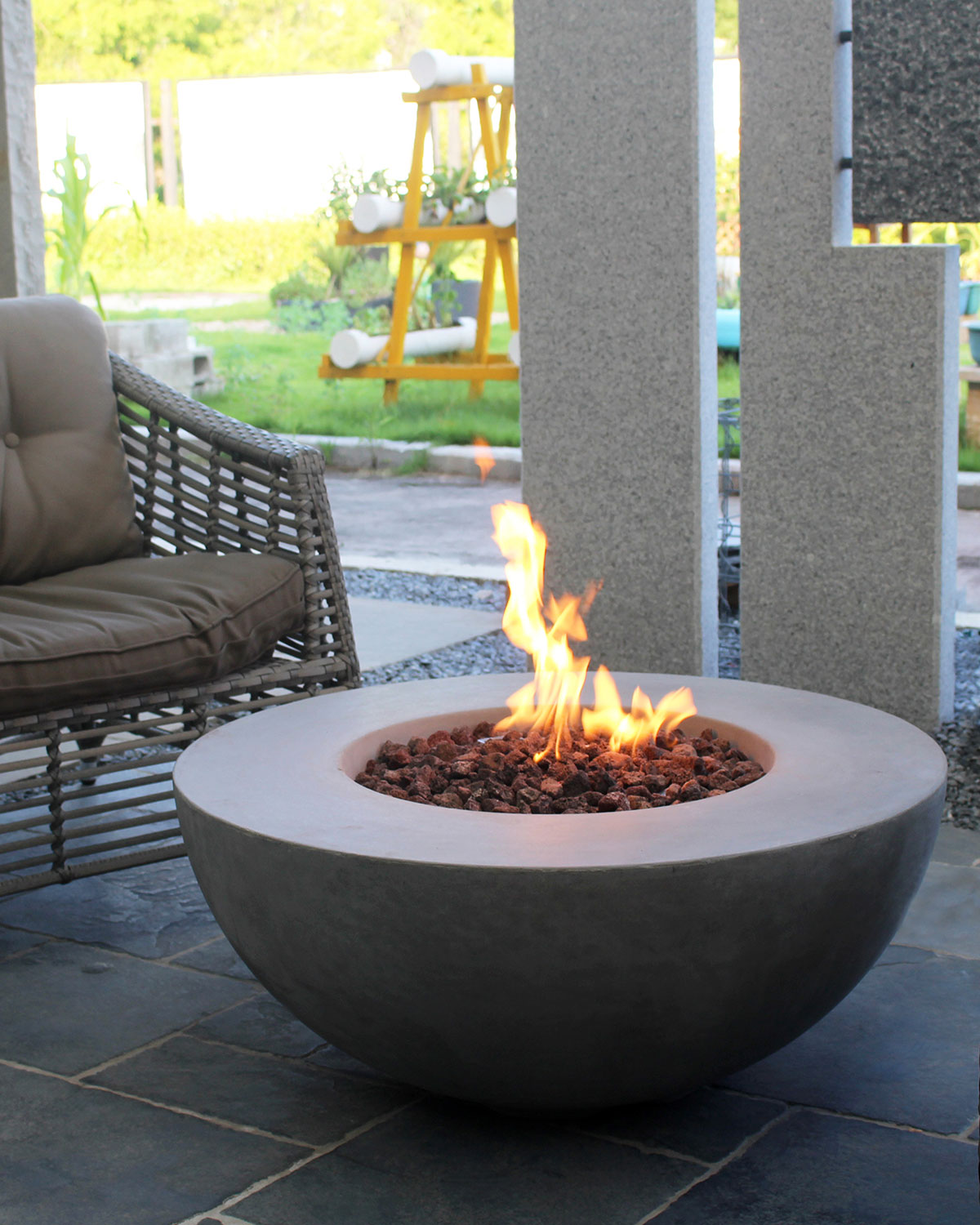 Terrific Lunar Bowl Outdoor Fire Pit Table With Natural Gas Assembly Download Free Architecture Designs Pushbritishbridgeorg