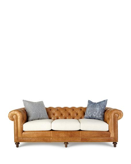 Clayton Tufted Leather Sofa