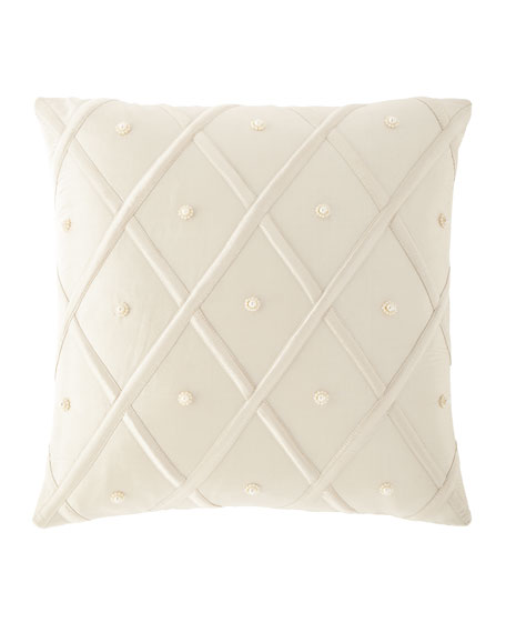 "Austin Horn Collection Luna Silk Pillow, 17""Sq."