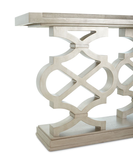 Image 3 of 5: Seth Lattice-Style Console Table