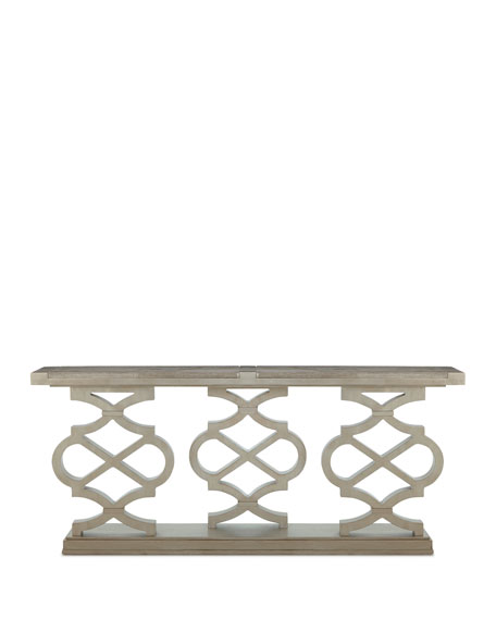 Image 4 of 5: Seth Lattice-Style Console Table