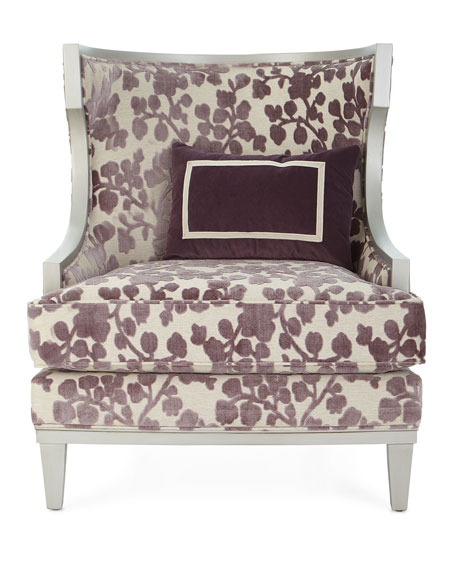 Image 4 of 5: Massoud Orchid Park Wing Chair