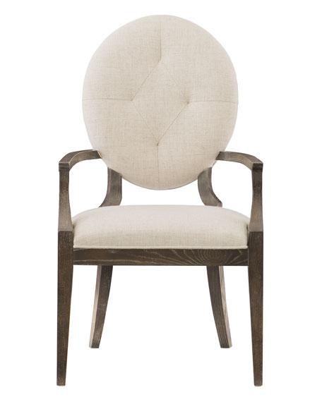 Bernhardt Clarendon Oval-Back Arm Chair, Pair