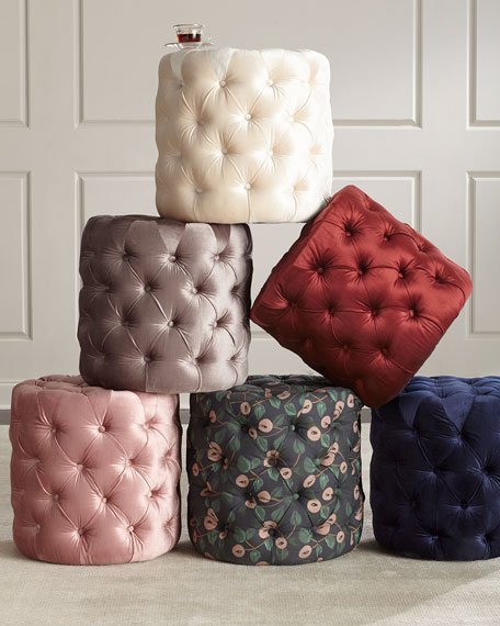 Grace Round Tufted Ottoman