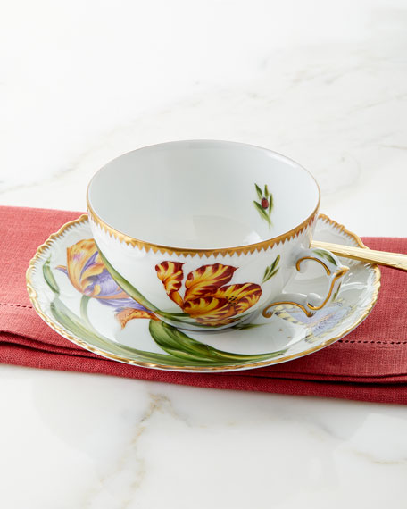 Anna Weatherly Old Master Tulips Teacup & Saucer