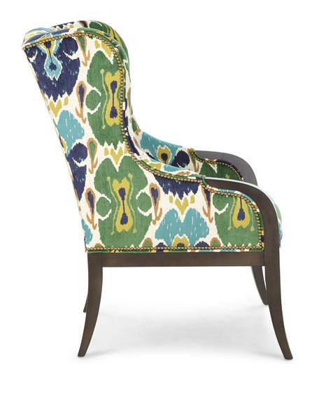 Massoud Rosemary Wing Chair