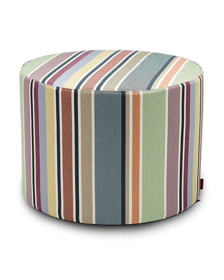 Missoni Home Valdemoro Cylindrical Pouf
