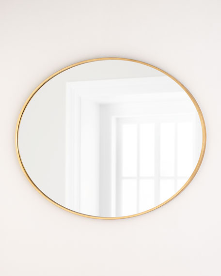 Oval Mirror, Gold