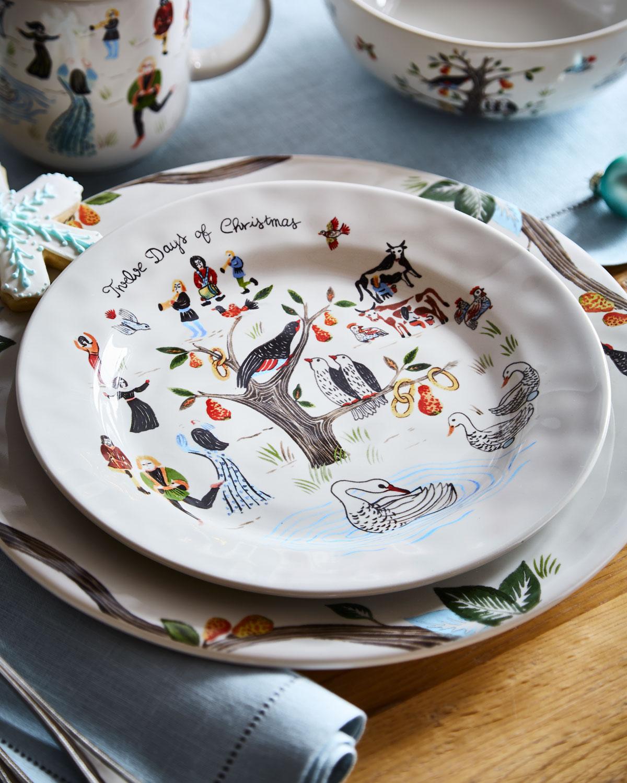 Juliska Twelve Days of Christmas Dessert/Salad Plate | Neiman Marcus