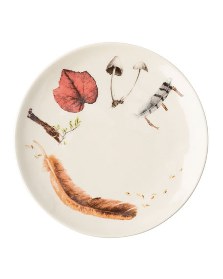 Forest Walk Sentiment Tidbit Plates, Set of 4
