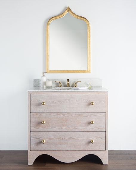 Milton Marble-Top Bath Vanity with Sink