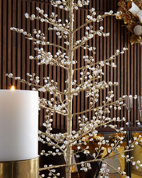 Glimmer & Gold Crystal Tree, 37""