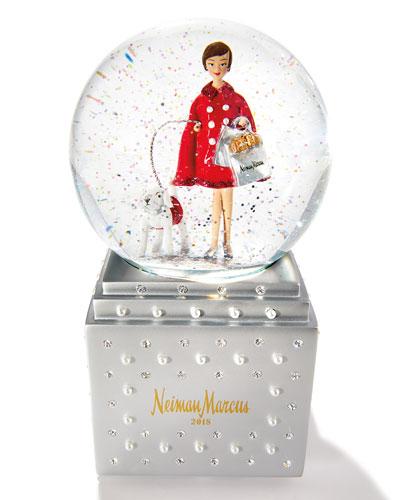 NM Shopping Lady Annual Snow Globe