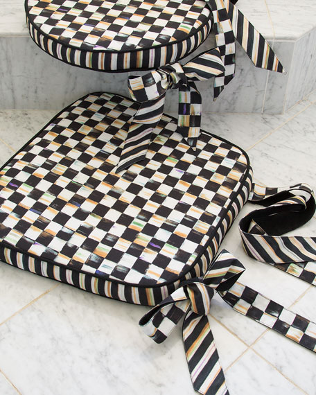 MacKenzie-Childs Courtly Check Chair Cushion