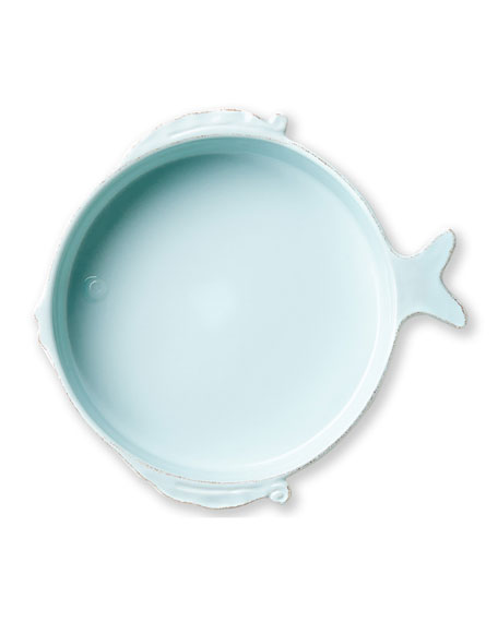 Vietri Melamine Lastra Fish Medium Serving Bowl
