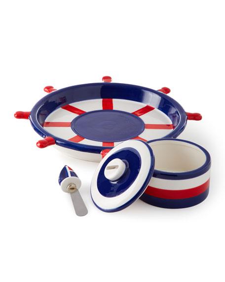 Boston International Anchors Away Chip and Dip Platter Set