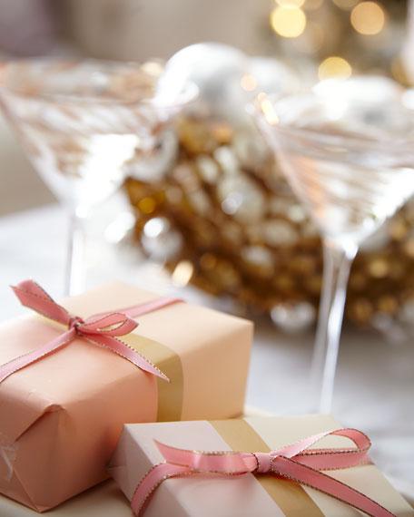 Silver Metallic Glass Ball Christmas Ornament W/ White Pastel Sequins & Gold Glitter