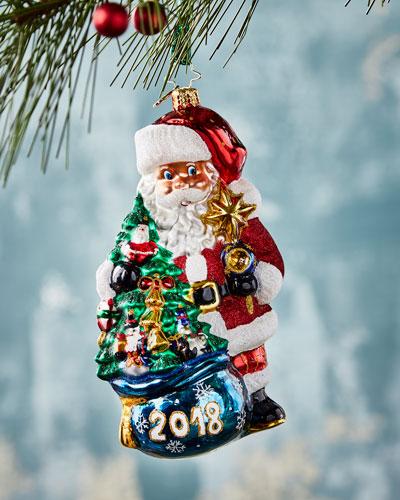 2018 In the Bag Santa  Christmas Ornament