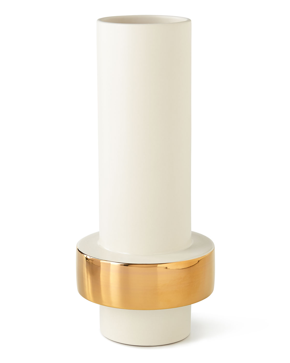 Global Views Low Golden Ring Vase