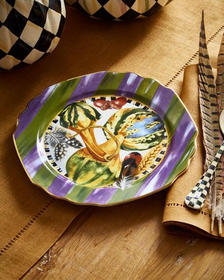 MacKenzie-Childs Pheasant Run Dessert Plate