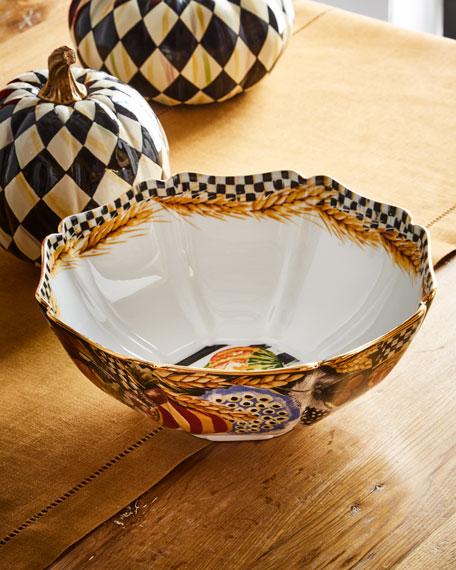 MacKenzie-Childs Pheasant Run Serving Bowl