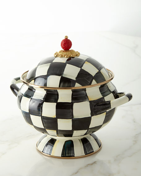 MacKenzie-Childs Courtly Check Enamel Tureen