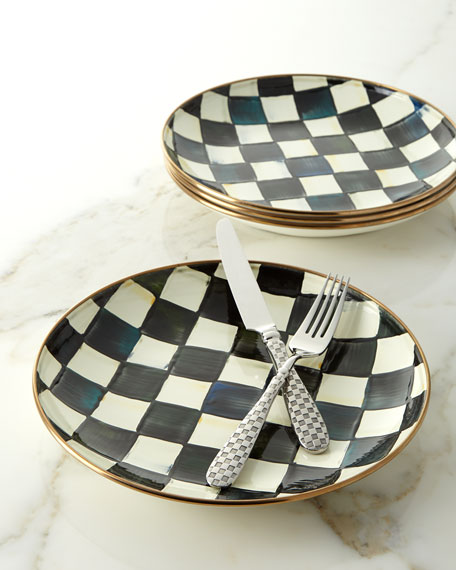MacKenzie-Childs Courtly Check Enamel Dinner Coupe