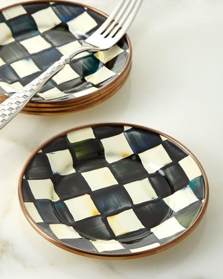 MacKenzie-Childs Courtly Check Enamel Canape Plate