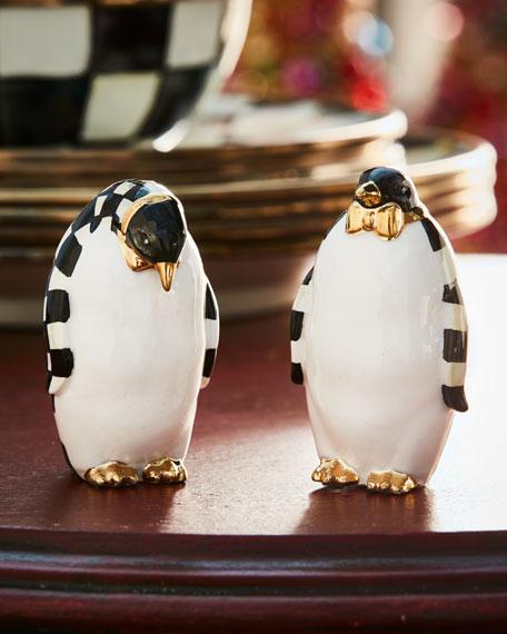 MacKenzie-Childs penguin salt and pepper set