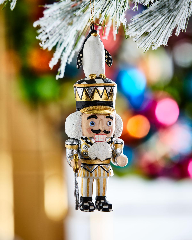MacKenzie-Childs Penguin King Nutcracker Christmas Ornament | Neiman ...