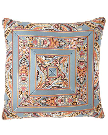 "Austin Horn Collection Rowen Mitered Stripe Pillow, 20""Sq."