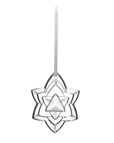 2018 Annual Crystal Christmas Ornament, Clear