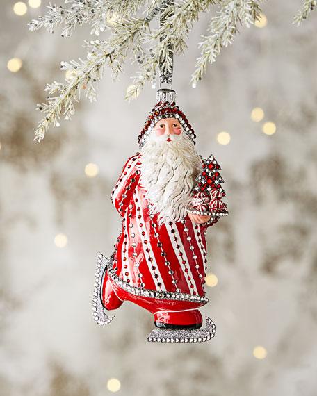Patricia Breen Skating Claus Ornament