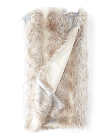 Fabulous Furs Faux Siberian Fox Throw Blanket