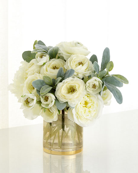 Image 1 of 2: John-Richard Collection Circles of Gold Faux Floral Arrangement