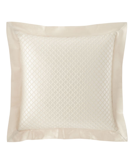 Austin Horn Collection Leisure Flanged Diamond-Quilted European Sham