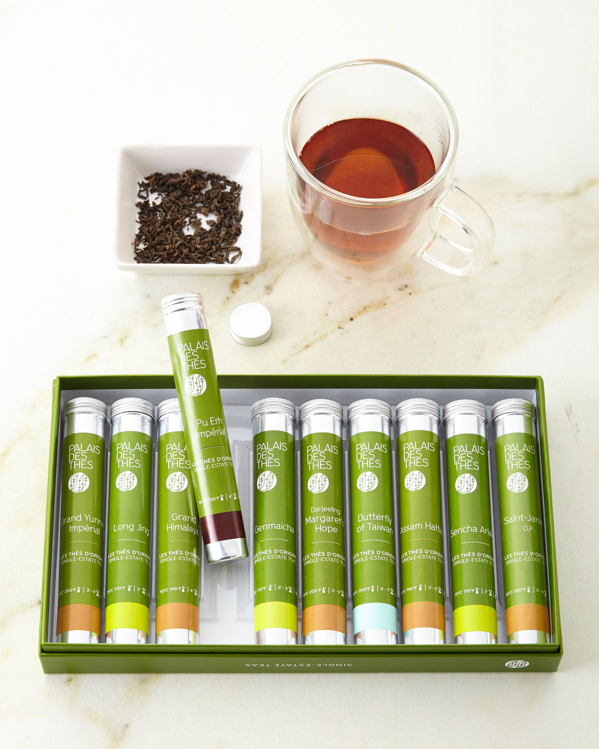 Palais des Thes Single-Estate Teas From Around the World Vial Set