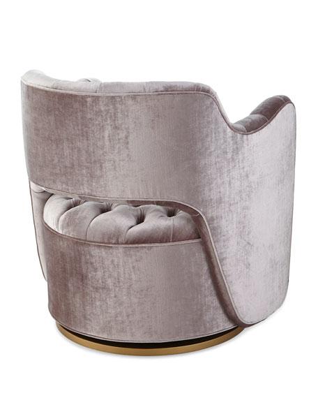 Tatiana Tufted Velvet Swivel Chair