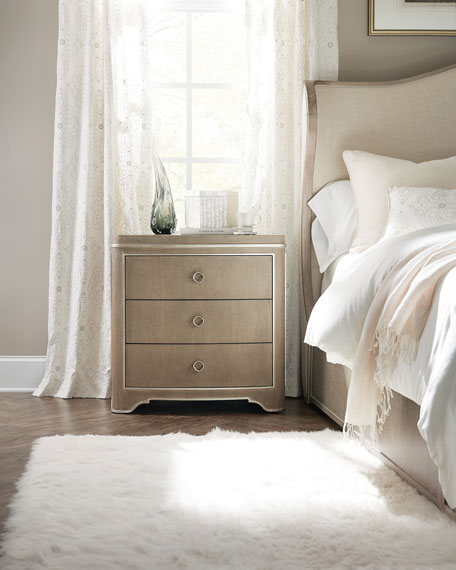 Hooker Furniture Eleri 3-Drawer Night Stand